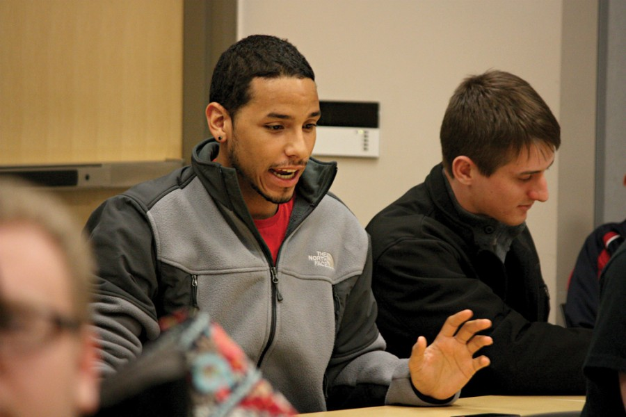 MU Junior, Sean Vitale, speaks out at equiv meeting