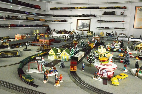 Each year more is added. This year an entire Reading Railroad train display was added.