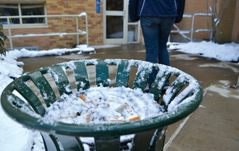Students and faculty are complaining that cigarette smoke is coming into the communications department's Mac lab.