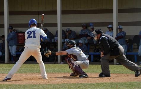 Misericordia's Mike Comerford (21) batting, at Tambur Field, Misericordia Univesity on Thursday, March 24, 2016 in Dallas, PA.