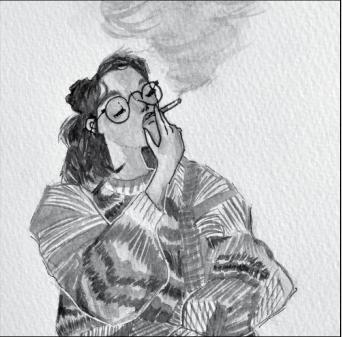 Ritzko painted her roommate Daniella Amendola with what originally was a pretzel.
