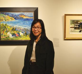 Lalaine Little enjoys her first semester as the University's new Art Director.