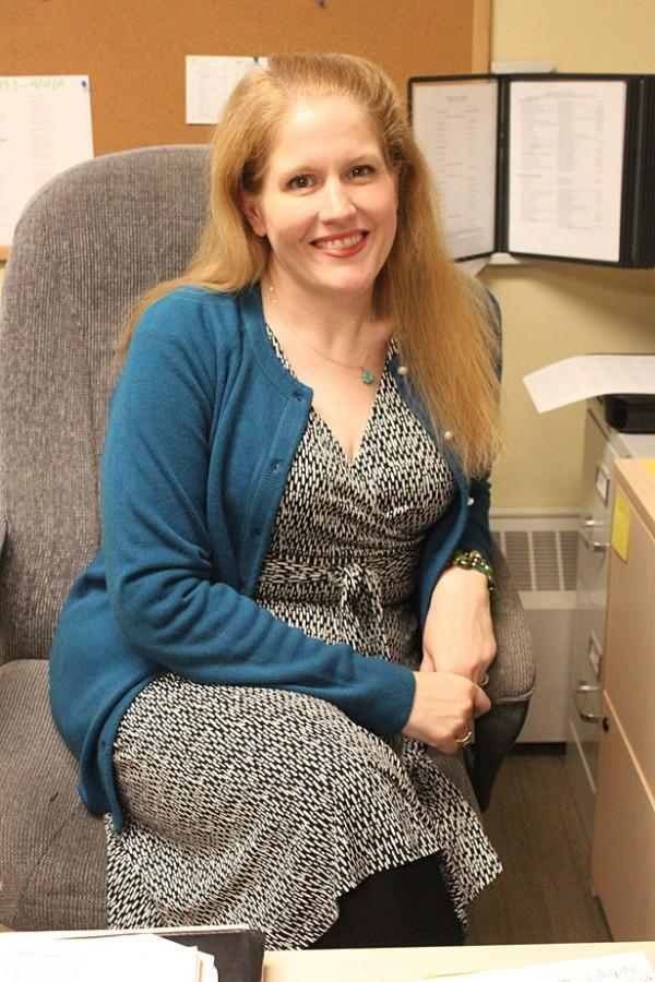 New student success center director Jessica Randall poses for a picture.