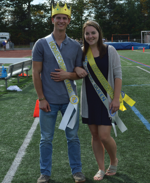 Misericordia University's 2017 Homecoming king and queen: Michael Dubinski and Bailee Hymers.