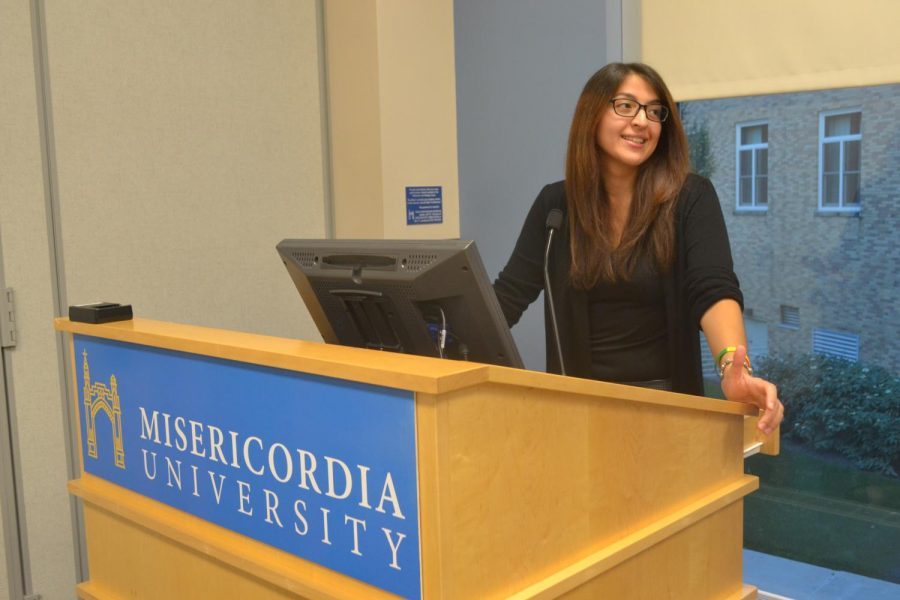 Margarite Connor, presenting a the Bi-Panel.