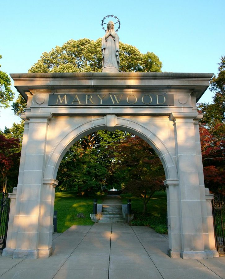 The welcoming Marywood University arch located at the entrance of their campus. (Wikimedia Commons)