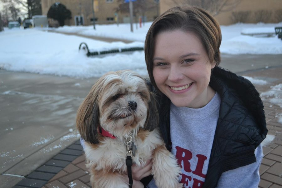Carlee Capece and Sadie.