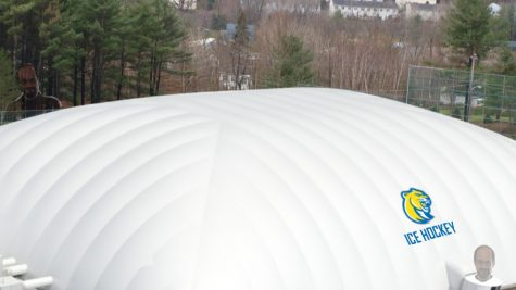 The model for the dome for the new ice hockey rink in McGheean Field on Misericordia's campus. The rink comes to campus thanks to the addition of the new men's ice hockey team.  Photo edited by Michael Conway